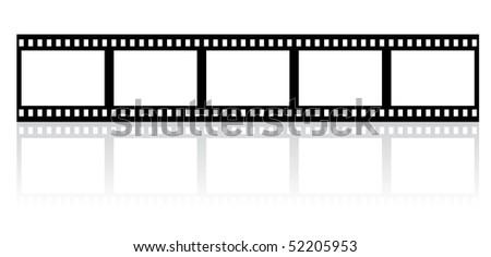 simple film stripe - vector - stock vector