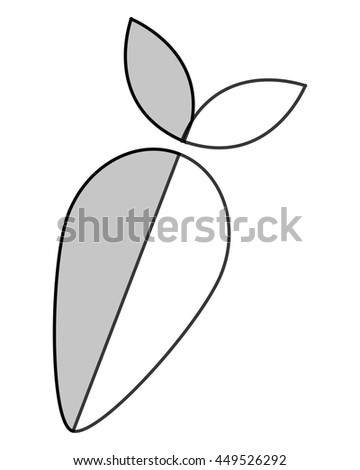 simple flat design whole turnip icon vector illustration - stock vector