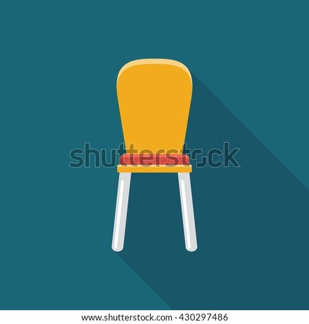 Simple flat icon chair. Vector illustration of furniture - stock vector