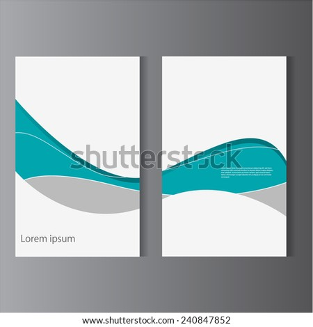 Simple flat UI design layout / flyer template, eps10 Vector. - stock vector