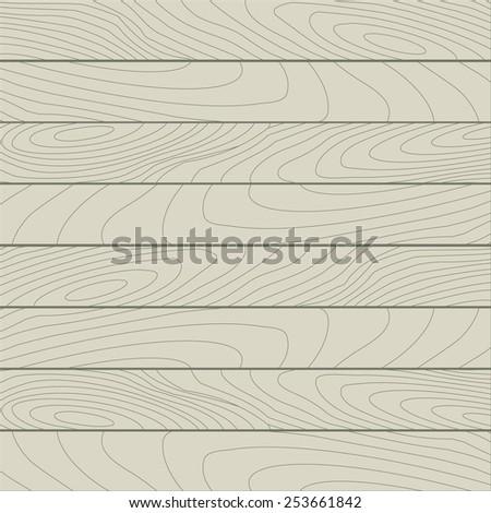 Simple flat wood texture - stock vector