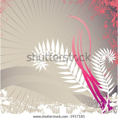 simple flora design - stock vector