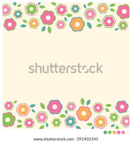 Simple Flower Vector Border Frame For Card Design