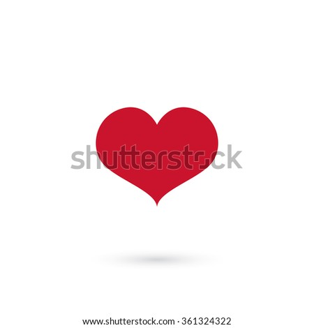 simple form of heart - stock vector