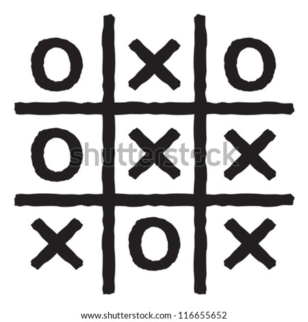 Tic Tac Toe Xo Game Tic Stock Vector 252725956 - Shutterstock