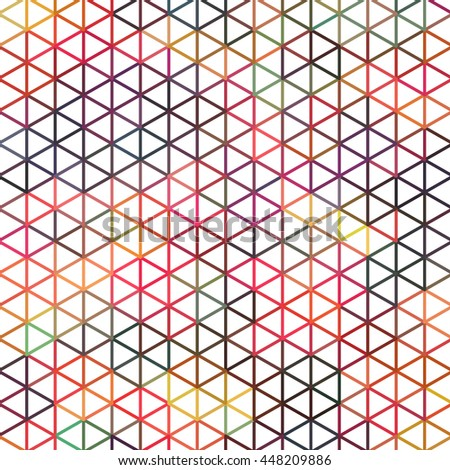 Simple geometric triangle backdrop. Triangle abstract colorful design. Vector illustration - stock vector