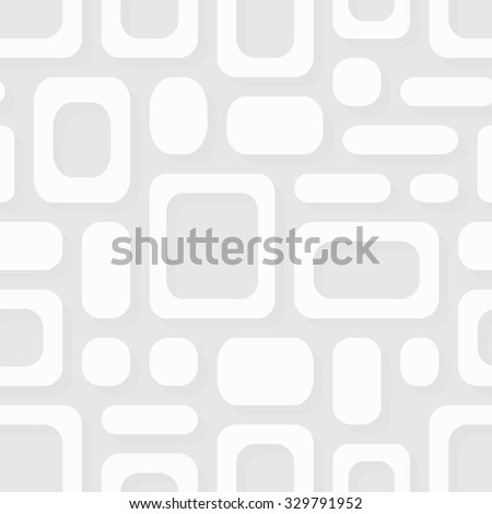 Simple geometric vector pattern - white frames abstract ornament Eps8 - stock vector