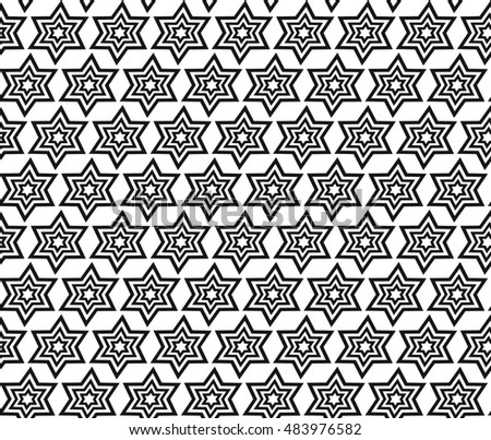 Simple geometric vector seamless pattern - line and curve on white background
