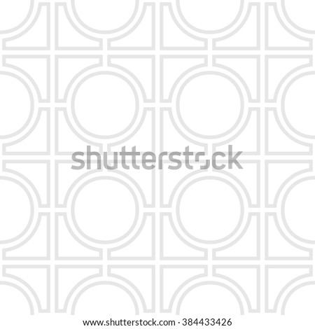 Simple geometric vector seampess pattern - Gray outlines on white background. EPS8 - stock vector