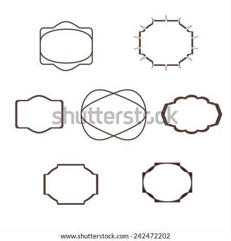 Simple geometric vintage badges and labels. There is place for your text. - stock vector