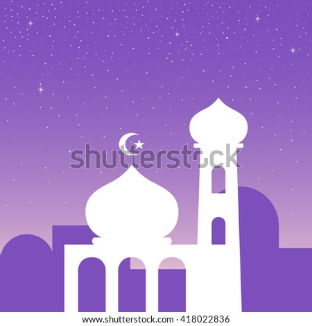 Simple graphic of a mosque - stock vector