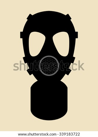 Simple graphic of gas mask - stock vector