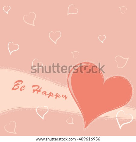 Simple greeting card with heart