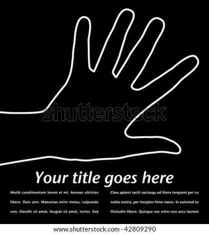 Simple hand design. - stock vector