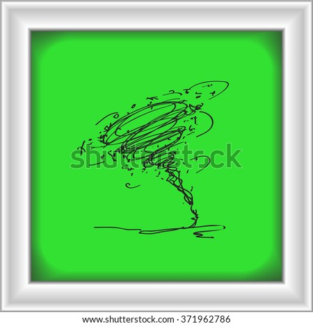 Simple hand drawn doodle of a tornado - stock vector