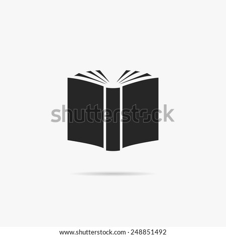 Simple icon book. - stock vector