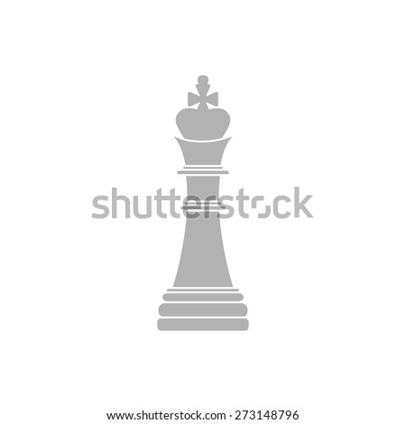 Simple icon chess king. - stock vector