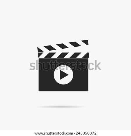 Simple icon Clapperboard. - stock vector