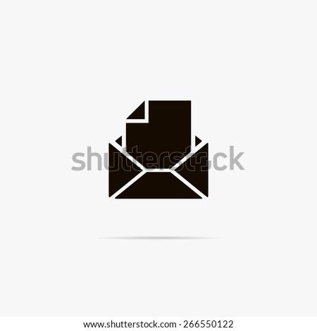 Simple icon E-mail. - stock vector