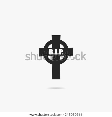 Simple icon grave. - stock vector