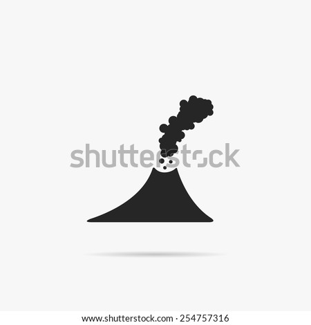 Simple icon of the volcano. - stock vector
