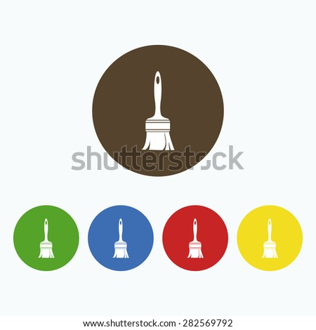 Simple icon Paint brush. - stock vector