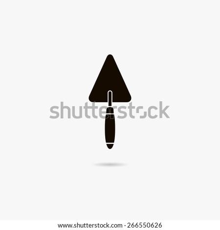 Simple icon trowel. - stock vector