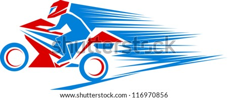 Simple illustration of a moto sport theme - stock vector