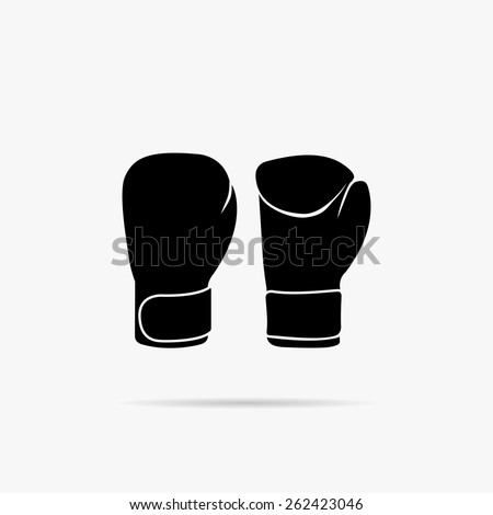 simple image of boxing gloves. - stock vector