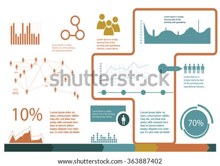 simple infographics template in A4 size - stock vector