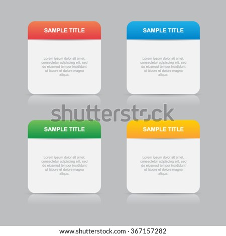 Simple Information Boxes Template - stock vector