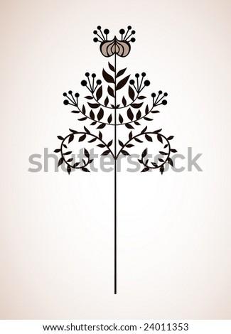Simple Japanese Flora Design Stock Vector 24011353 - Shutterstock