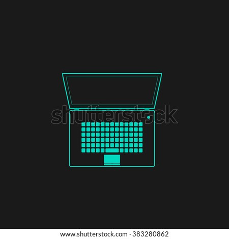Simple Laptop. Flat simple modern illustration pictogram. Collection concept symbol for infographic project and logo