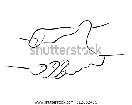 how to draw 2 hands holding