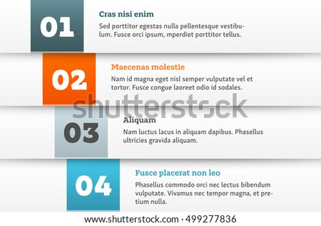 Simple Vector Numbered List Template On Stock Vector 313049789 ...