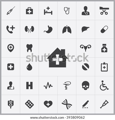 Simple Medical icons set. Universal Medical icon to use for web and mobile UI, set of basic Medical elements
