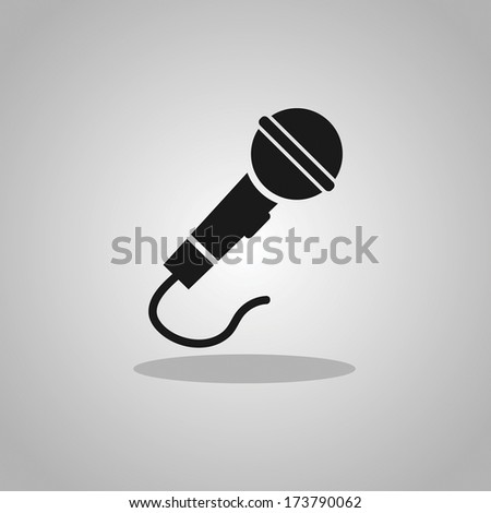 Simple Microphone Icons - stock vector
