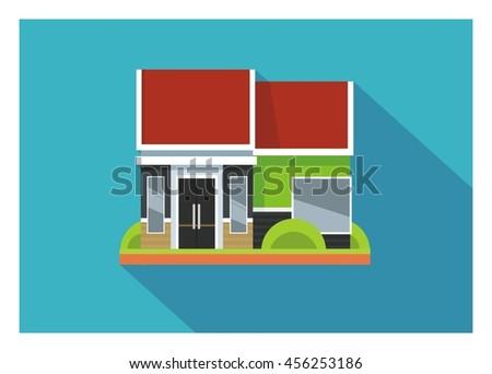 simple minimalist home illustration - stock vector