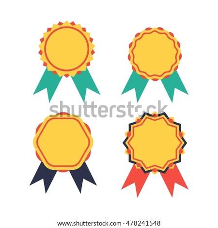 simple modern award badge design template stock vector 478241548