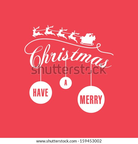 Simple, modern Christmas card - stock vector