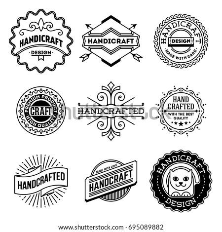 Simple Mono Lines Logos Collection Hand Craft Design Set 7