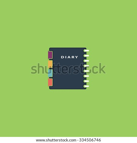 Simple organizer. Colorful vector icon. Simple retro color modern illustration pictogram. Collection concept symbol for infographic project and logo - stock vector