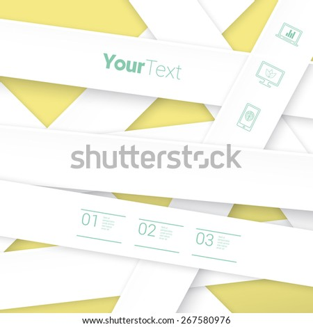 Simple Origami Paper Stripes Vector Composition For Your Print - stock vector