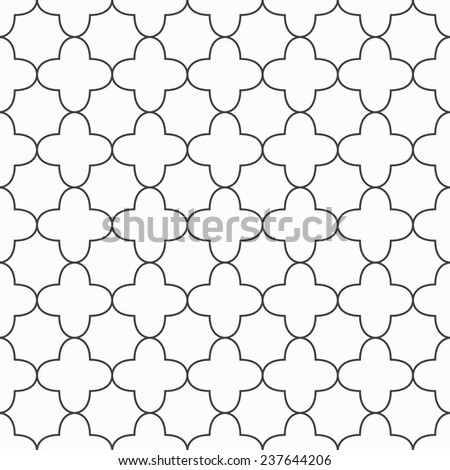 Simple ornamental pattern. Black and white texture. Vector seamless background - stock vector