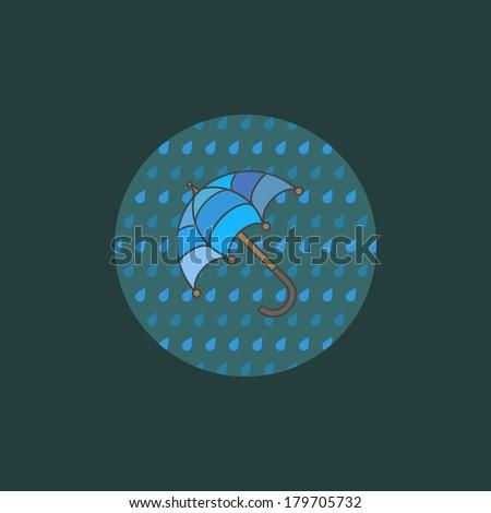 Simple parasol icon. Minimal umbrella illustration. Rainy season concept. Minimal design. Easy to edit. Vector design element. - stock vector
