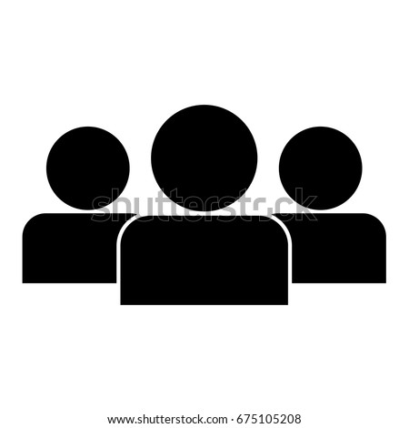 Simple People Vector Icon Teamwork Leadership Stock Vector ...