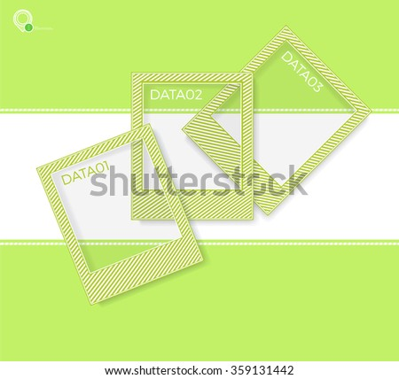 Simple Photoframes with Lines Texture for Your Gallery Presentation - stock vector