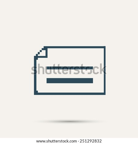 Simple pixel icon dialog messages. Vector design. - stock vector