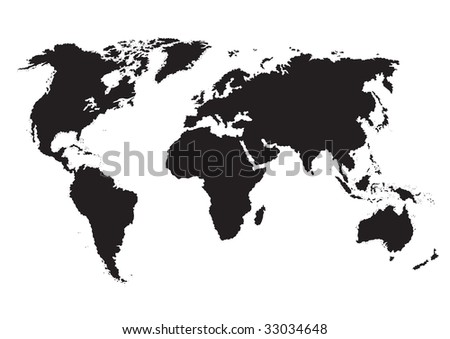 Simple plain monochrome world map vector stock vector 2018 simple plain monochrome world map vector illustration silhouette background or element for your design gumiabroncs Images