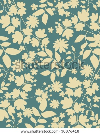 simple plants background - stock vector